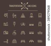 transportation icon set. | Shutterstock .eps vector #389279068