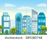 illustration of urban landscape.... | Shutterstock .eps vector #389280748