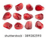 Pomegranate Seeds Closeup ...
