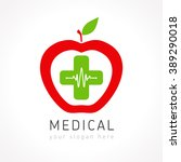 medical logotype. pharmacy... | Shutterstock .eps vector #389290018