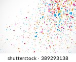 colorful confetti isolated on... | Shutterstock .eps vector #389293138
