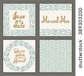 vector set of invitation cards... | Shutterstock .eps vector #389303200