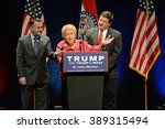 Small photo of Saint Louis, MO, USA - March 11, 2016: Phyllis Schlafly talks to supporters at the Peabody Opera House in Downtown Saint Louis