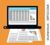 spreadsheet icon design | Shutterstock .eps vector #389321368