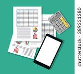 spreadsheet icon design | Shutterstock .eps vector #389321380
