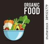 organic food design  | Shutterstock .eps vector #389321779