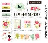 planner stickers. signs ... | Shutterstock .eps vector #389329174