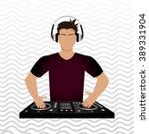 dj icon design    Shutterstock .eps vector #389331904