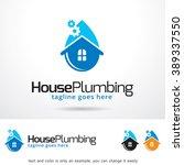 house plumbing logo template... | Shutterstock .eps vector #389337550