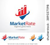 market rate logo template... | Shutterstock .eps vector #389337598