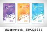 set of modern geometric banners ... | Shutterstock .eps vector #389339986