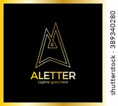 letter a line arrow up logotype.... | Shutterstock .eps vector #389340280
