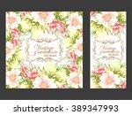 vintage delicate invitation... | Shutterstock .eps vector #389347993