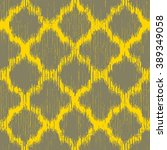 faux tribal fabric moroccan... | Shutterstock .eps vector #389349058