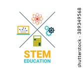 stem   science  technology ... | Shutterstock .eps vector #389349568