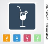 square flat buttons icon of... | Shutterstock .eps vector #389350780