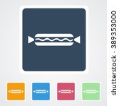 square flat buttons icon of hot ... | Shutterstock .eps vector #389353000