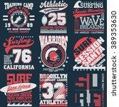 sport typography graphics... | Shutterstock .eps vector #389353630