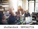 business people meeting... | Shutterstock . vector #389362726