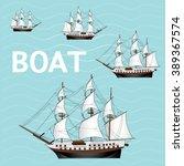 boat cartoon vector   Shutterstock .eps vector #389367574