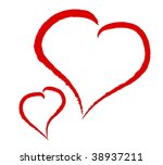 two hearts on white background | Shutterstock . vector #38937211
