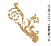 premium gold vintage baroque... | Shutterstock .eps vector #389373808