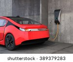 electric vehicle charging... | Shutterstock . vector #389379283