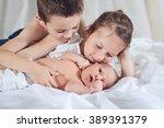 siblings love | Shutterstock . vector #389391379