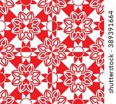 red flowers geometric pattern ... | Shutterstock . vector #389391664
