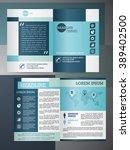 abstract vector modern flyer... | Shutterstock .eps vector #389402500
