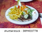 freshly grilled steak with...