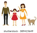family and pet vector | Shutterstock .eps vector #389415649