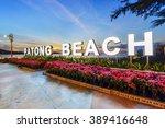 patong beach at dusk. phuket ...   Shutterstock . vector #389416648