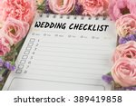 word wedding checklist note... | Shutterstock . vector #389419858