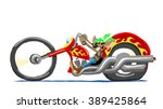 cartoon mouse in a motorcycle   Shutterstock .eps vector #389425864