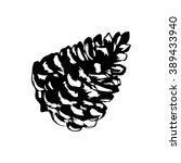 vector pine cone | Shutterstock .eps vector #389433940
