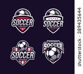 soccer logos  american logo... | Shutterstock .eps vector #389435644