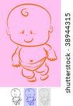 a cute little baby. | Shutterstock .eps vector #38944315