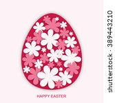 happy easter. greeting card.... | Shutterstock .eps vector #389443210