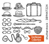 old fashioned gentleman... | Shutterstock .eps vector #389447224