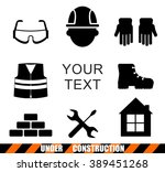 set of construction tools icons.... | Shutterstock .eps vector #389451268