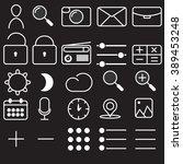 telecommunications icons set