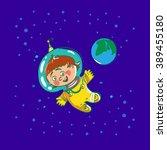 Space Child Cartoon Astronaut ...