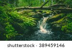 Small Waterfall In Karelia And...