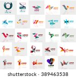 collection of colorful abstract ... | Shutterstock .eps vector #389463538