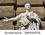 detail of cicero marble statue... | Shutterstock . vector #389464936