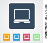 square flat buttons icon of... | Shutterstock .eps vector #389471308