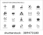 vector icon set for topic... | Shutterstock .eps vector #389473180