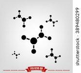molecule  icon | Shutterstock .eps vector #389480299