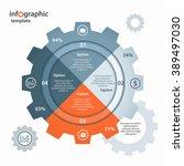 vector gear circle infographic... | Shutterstock .eps vector #389497030
